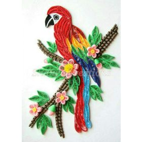 Paper Quilled Macaw